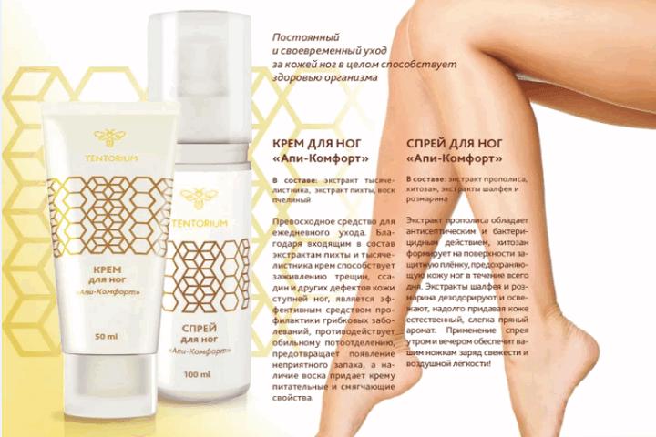 Уход за кожей ног, с продуктами пчеловодства